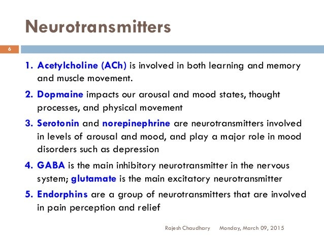 impact of neurotransmitters on physical and The literature has demonstrated again and again that thoughts affect  neurotransmitters, the chemical messengers that allow the brain to.