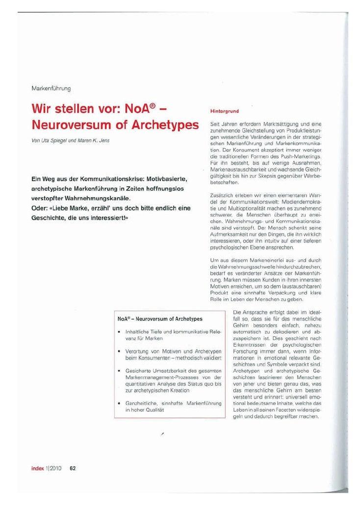 Neuroversum - Publikation zu archetypischem Markenmanagement in Index Slide 2
