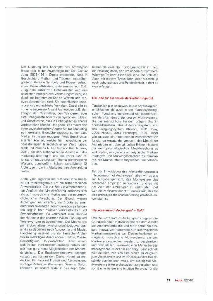 Neuroversum - Publikation zu archetypischem Markenmanagement in Index Slide 3