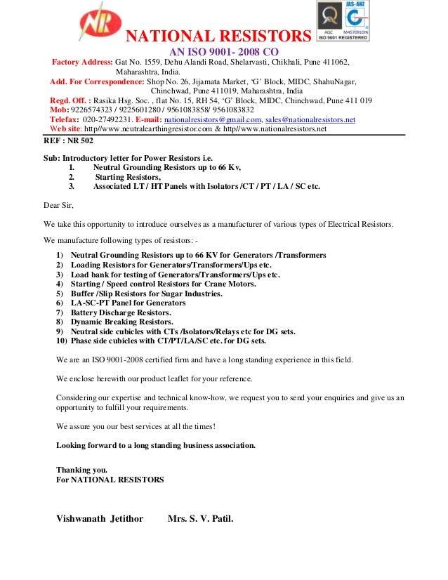 NATIONAL RESISTORS AN ISO 9001- 2008 CO Factory Address: Gat No. 1559, Dehu Alandi Road, Shelarvasti, Chikhali, Pune 41106...