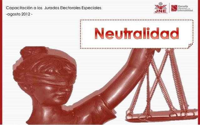Capacitación a los Jurados Electorales Especiales -agosto 2012 -