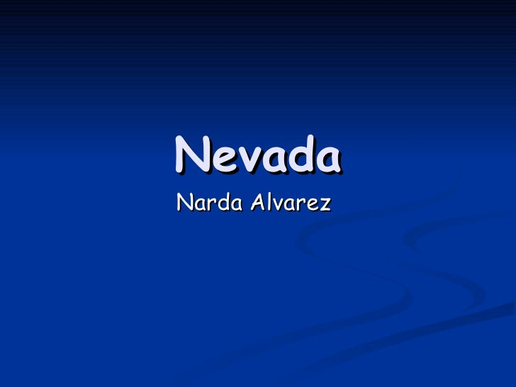 Nevada Narda Alvarez