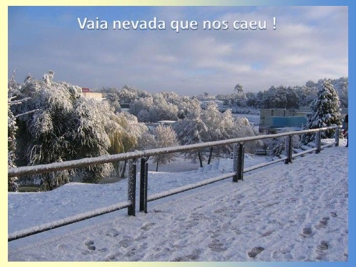Vaia nevada que nos caeu !<br />