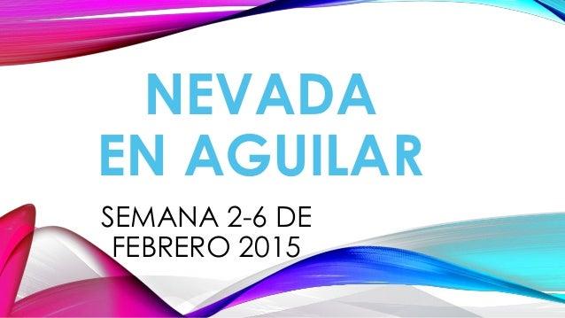 NEVADA EN AGUILAR SEMANA 2-6 DE FEBRERO 2015