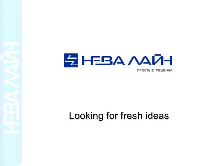 Looking for fresh ideas