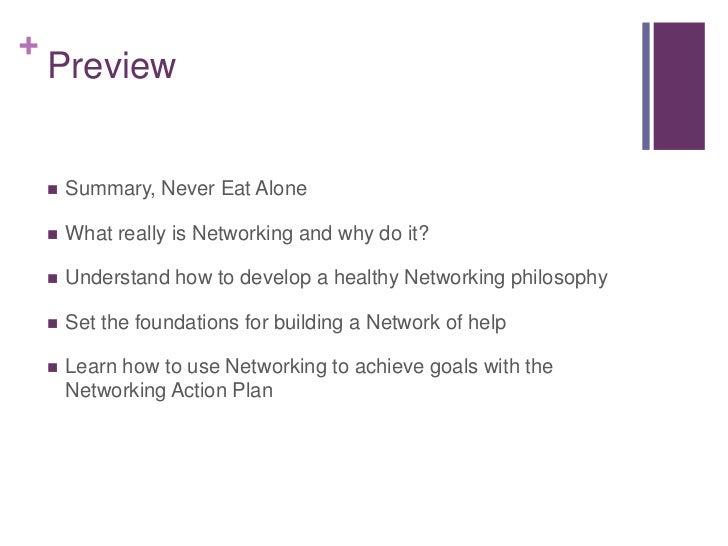 never eat alone pdf summary