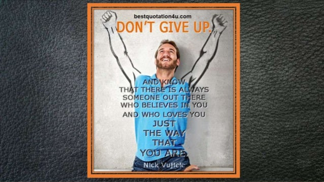 never give up by nick vujicic a visual summary