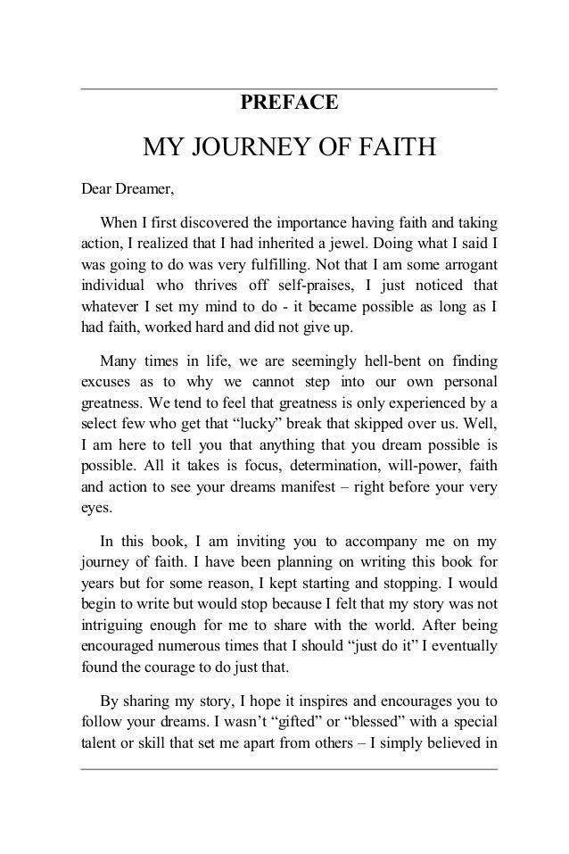 My faith journey essay