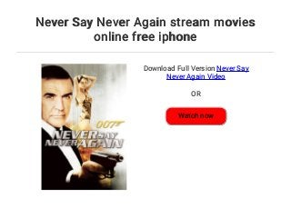 watch never say never again free online