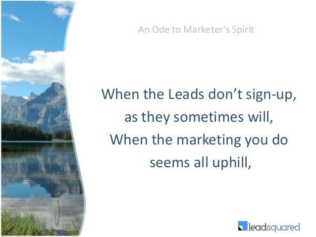 Never say no to marketing Slide 2