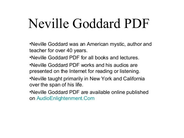 Neville Goddard Books - Be What You Wish To Be, Be …