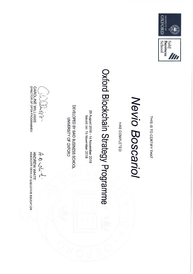 Nevio boscariol certificate_oxfordsaidbusinessschool_o_xfordblockchainstrategyprogramme_2018
