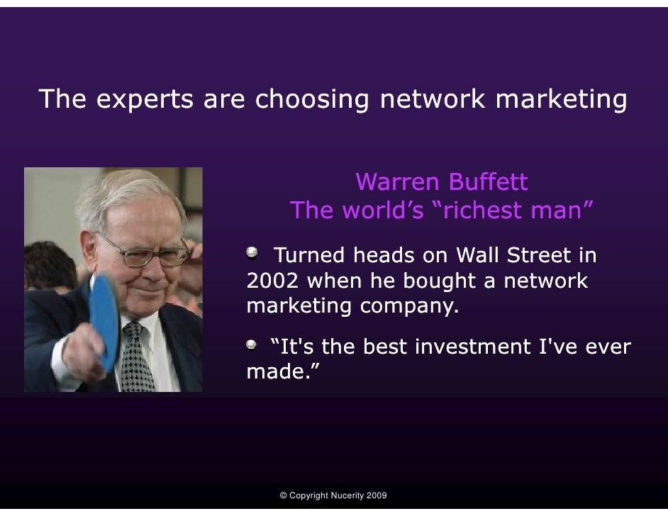 Warren Buffett Mlm Opportunity Global Direct Selling Industry