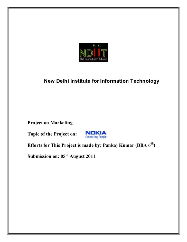 Project report pdf bba