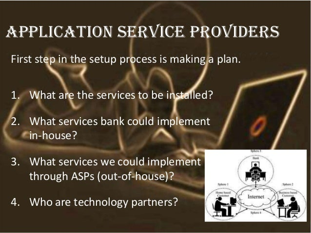 First step in the setup process is making a plan. 1. What are the services to be installed? 2. What services bank could im...