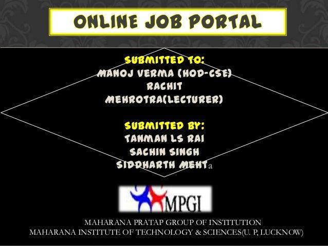 java online job portal presentation