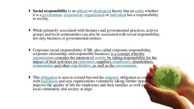SOCIAL RESPONSIBILITY OF BUSINESS Slide 2