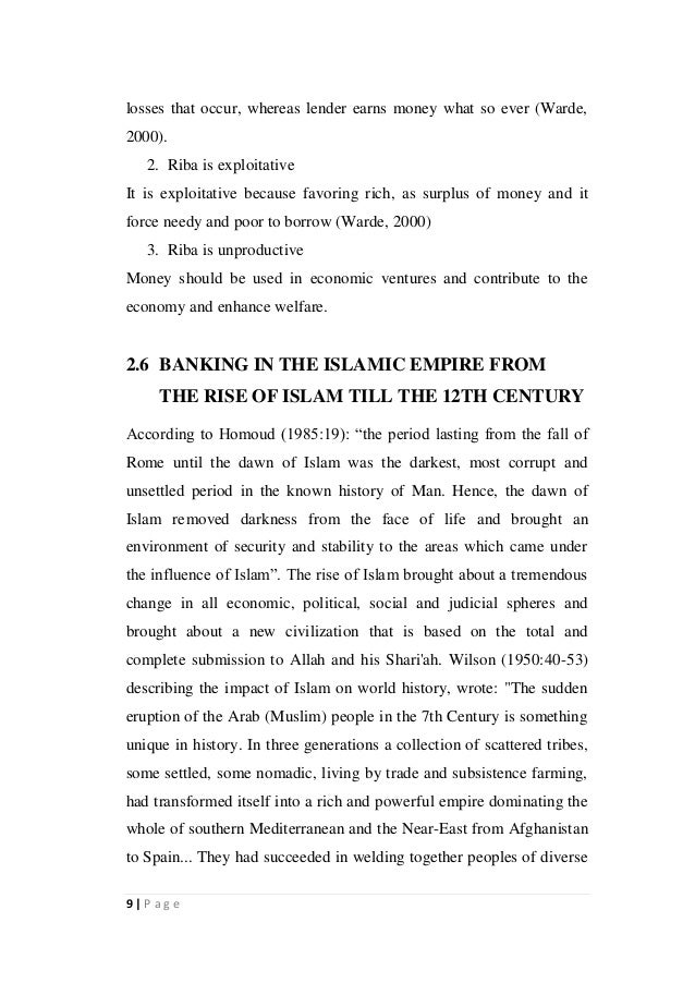 Phd thesis islamic finance