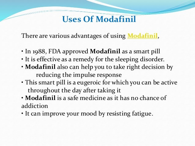 Modafinil Uses Side Effects Suggestions