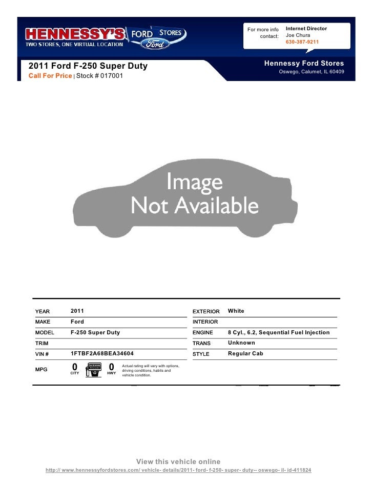 New 2011 Ford F-250 Super Duty