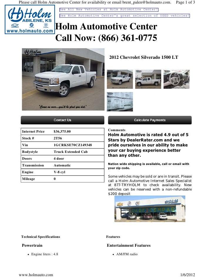 New Chevrolet Silverado Wichita KS Holm Automotive Center - Holm chevrolet