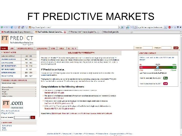 FT PREDICTIVE MARKETS