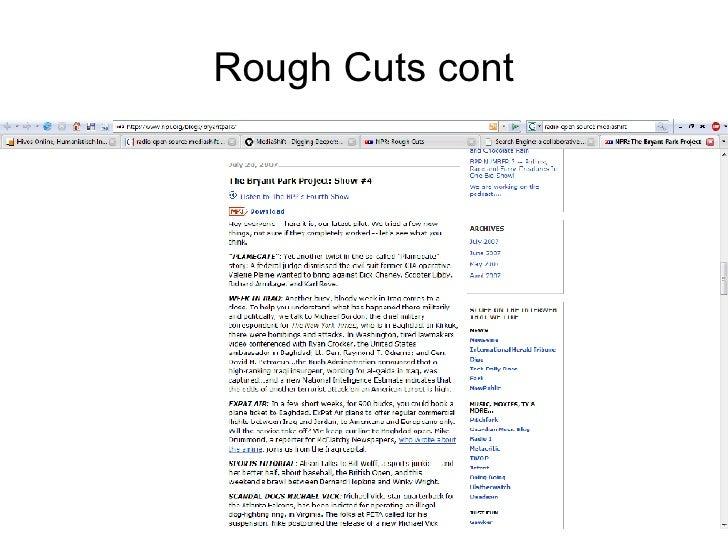 Rough Cuts cont