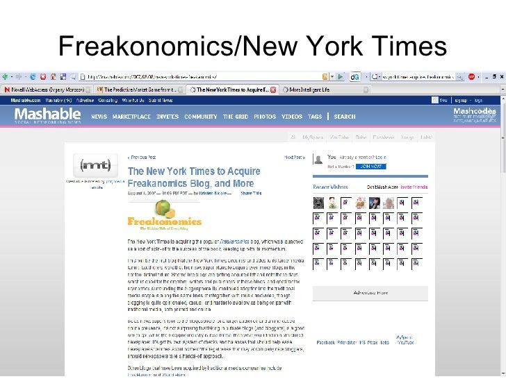 Freakonomics/New York Times