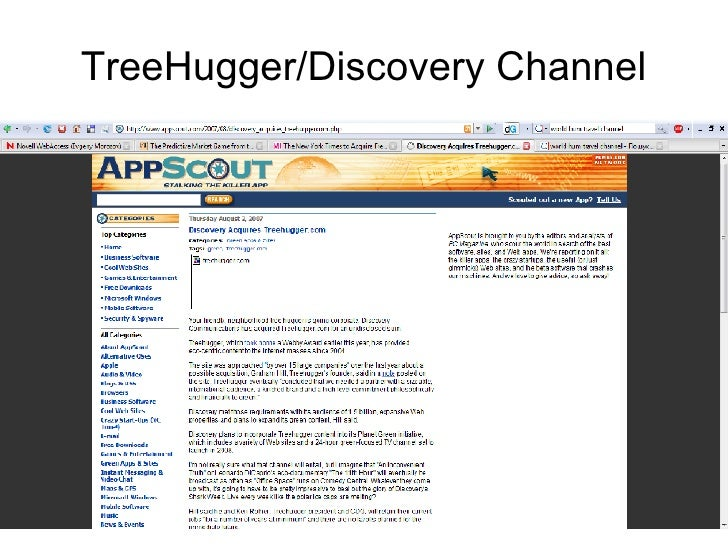 TreeHugger/Discovery Channel