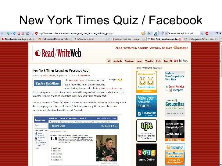 New York Times Quiz / Facebook