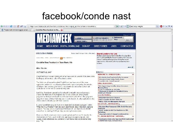 facebook/conde nast
