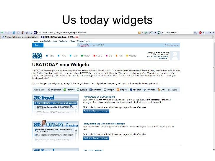 Us today widgets