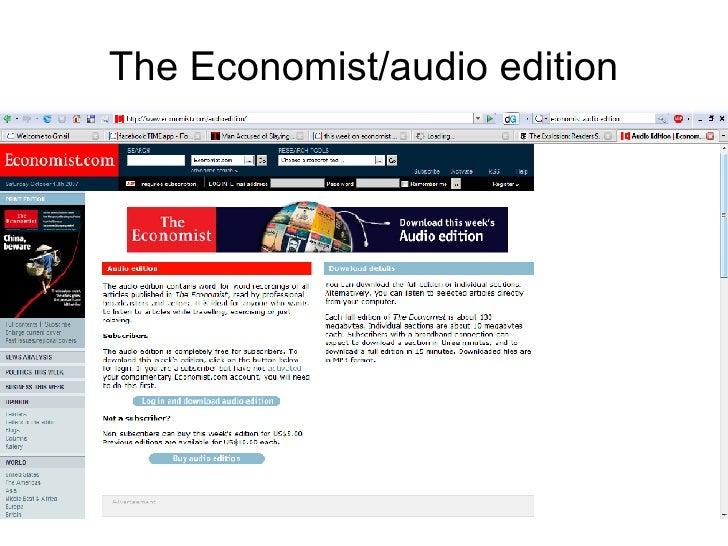 The Economist/audio edition