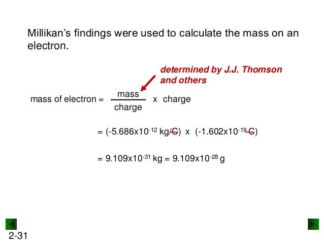 how to find charge nd mass