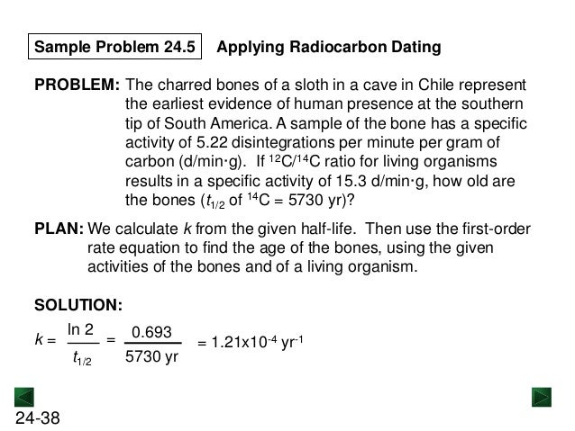 Solving carbon dating problems and solutions