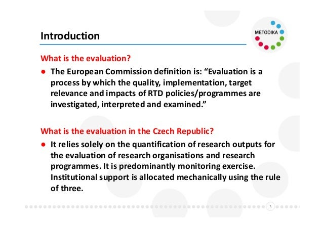 Ipn Metodika Project – New Concept Of The Czech Research Evaluation