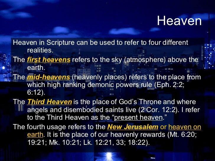 Image result for where is heaven located according to the bible