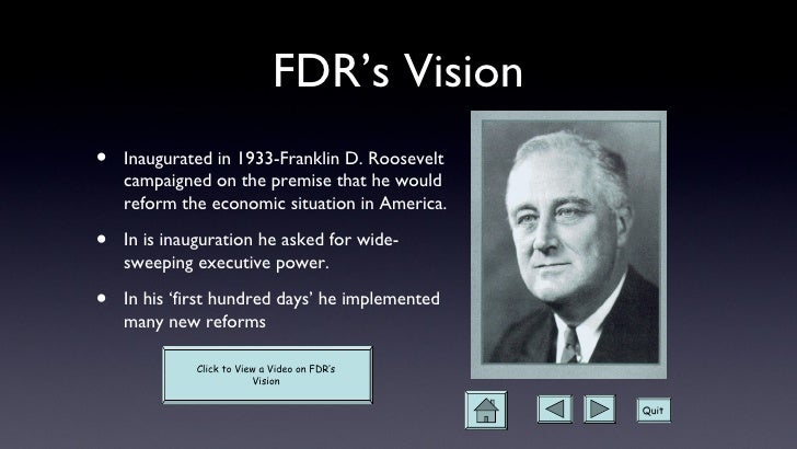 franklin d roosevelt and the new deal essay What were the goals of president franklin d roosevelt's first new deal the only thing we have to fear is fear itself president franklin d roosevelt uttered those words to reassure the american people when assuming the presidency at the darkest hour of the great depression.