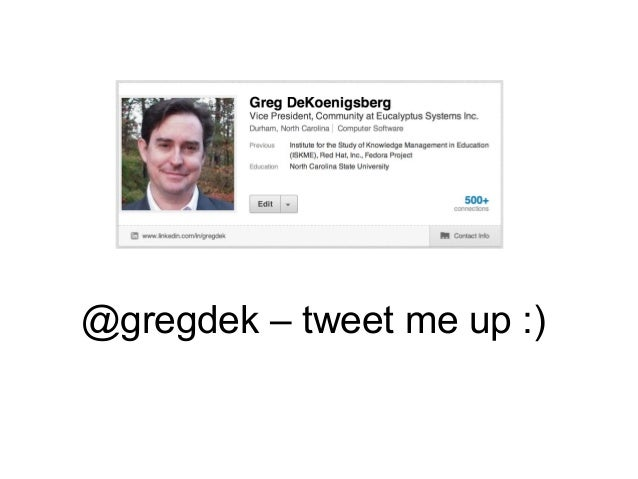 @gregdek – tweet me up :)