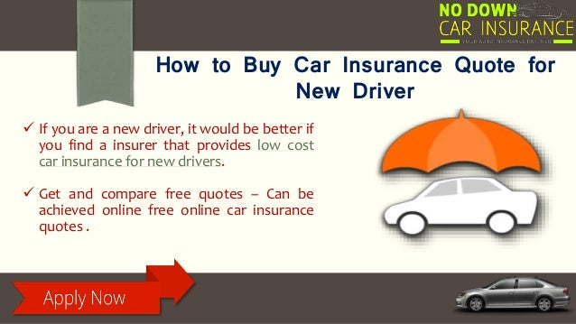 Ways To Buy Car Insurance For New Drivers