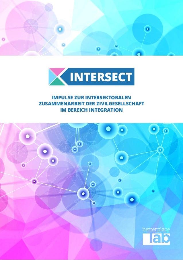 IMPULSE ZUR INTERSEKTORALEN ZUSAMMENARBEIT DER ZIVILGESELLSCHAFT IM BEREICH INTEGRATION INTERSECT