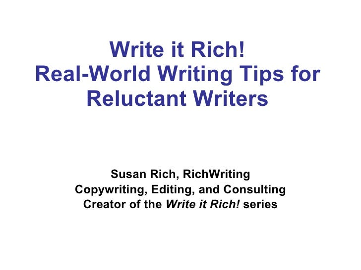 Writing for an Invisible Audience | Susan Rich of RichWriting