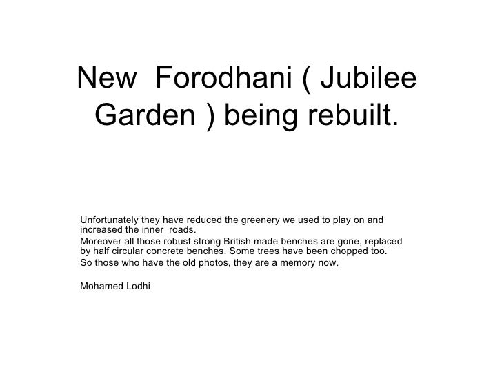New  Forodhani ( Jubilee Garden ) being rebuilt. Unfortunately they have reduced the greenery we used to play on and incre...