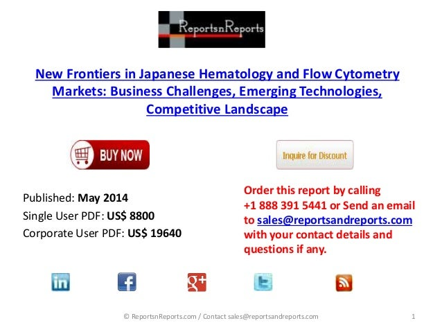 international flow cytometry market drivers and Awesone collection: flow cytometry publications & literature - citations,   sepsis diagnostics market - industry trends and global forecast to 2024  global.