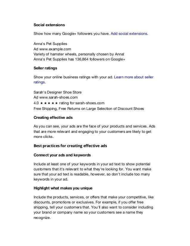 New Google Adwords Fundamentals Binder PDF
