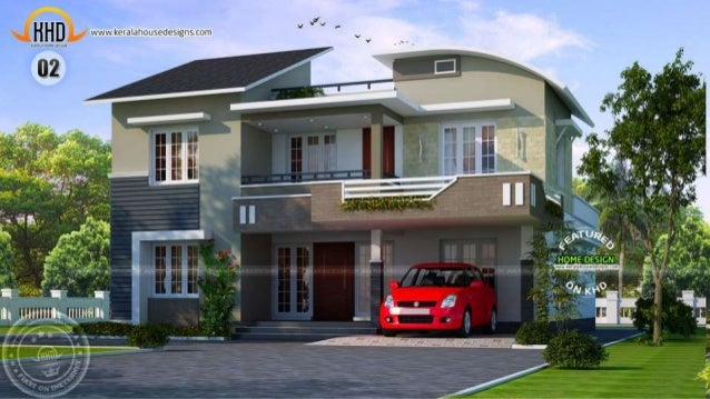 New kerala house plans april 2015 for Kerala new house plans