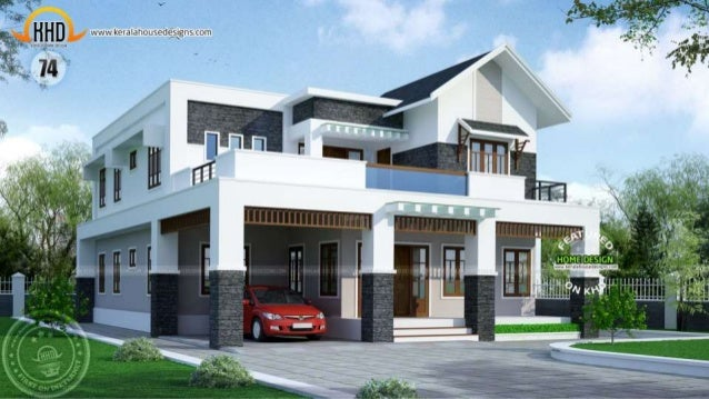 New kerala house plans april 2015 for Kerala new home pictures