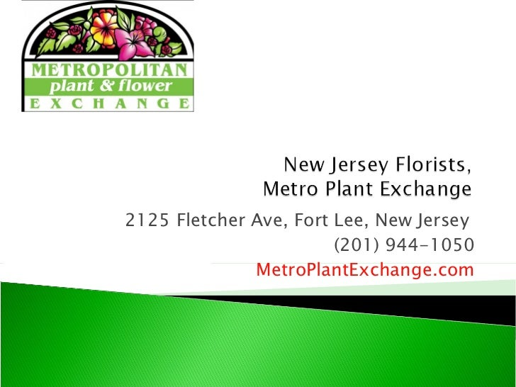 2125 Fletcher Ave, Fort Lee, New Jersey (201) 944-1050 MetroPlantExchange.com
