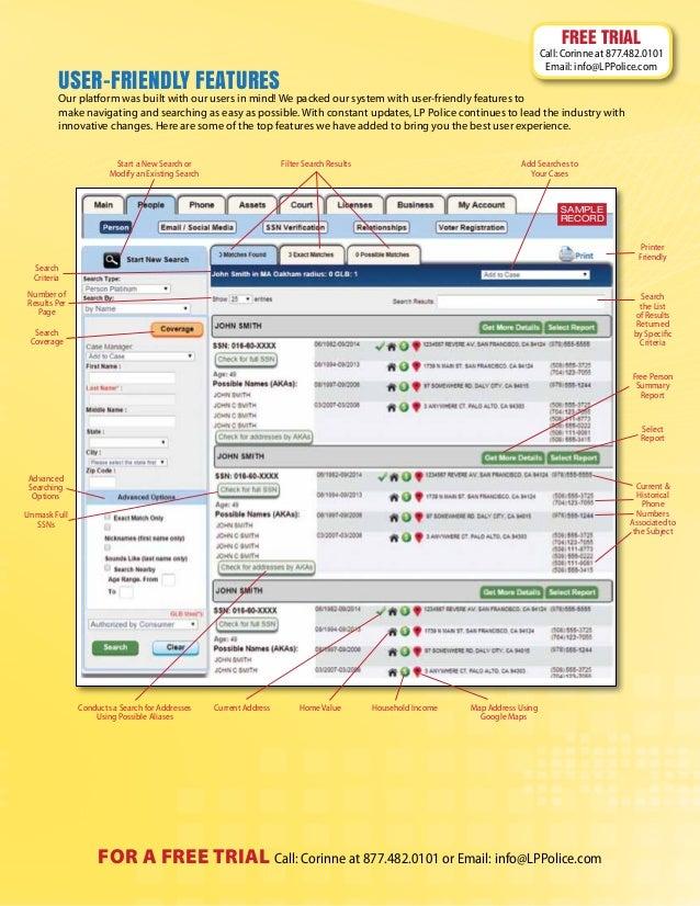LP Police - Investigative Database - Criminal Records - Skip Tracing …