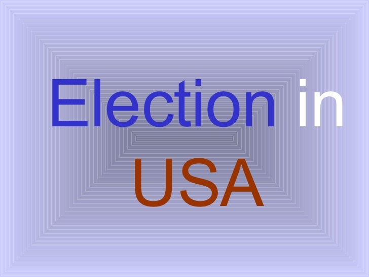 Election   in  USA